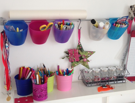 wall storage for pens